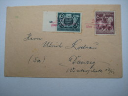 1944 , Notstempel , Roter Stempel Als Entwertung, Rückklappe Fehlt - Allemagne