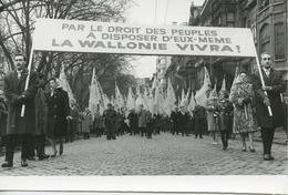 Liège Luik Betoging Mouvement Populaire Wallon 14 April 1962 Persfoto BF0 - Luik