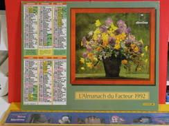 Calendrier > Les Bouquets De Fleurs - Almanach Des P.T.T. 1992 - Vendu En état - Grand Format : 1991-00