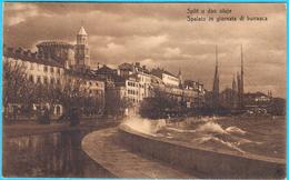 SPLIT U DAN OLUJE ( Spalato In Giornata Di Burrasca ) * Croatia * Travelled 1914. * By G. A. Milisich - Croatia