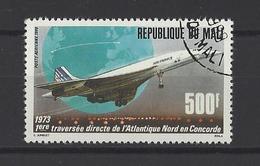 MALI . YT PA 534 Obl 15e Anniversaire De La 1re Traversée Directe De L'Atlantique-Nord En Concorde 1988 - Mali (1959-...)