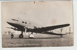 "Vintage Rppc Imperial Airways BEA B.E.A. British European Airlines DE Havilland ""Albatross"" Aircraft - 1946-....: Moderne"