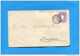 MARCOPHILIE -CHILI-lettre Entier Postal-5cent Colon Cad LOS ANJELES -1895> Conception - Chile