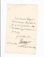 MICHELOT (PIERRE MARIE NICOLAS) PARIS 1786 PASSY 1856 ACTEUR FRANCAIS SOC  COMEDIE FRANCAISE LETTRE A SIGNATURE 1821 - Autographs