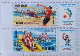 Vietnam Viet Nam MNH Perf Stamps 2016 : 5th Asean Beach Games In Da Nang / Volleyball / Rowing - Vietnam