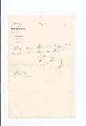 LOUIS LURINE (BURGOS 1812 PARIS 1860) HOMME DE LETTRES  AUTEUR DRAMATIQUE ROMANCIER LETTRE A SIGNATURE - Autographs