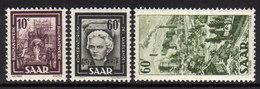 SAAR 1949 - MiNr: 272-288   Lot 3x  * / MH - Ungebraucht