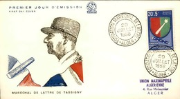 ALGERIE - Premier Jour Maréchal De Lattre De Tassigny 1958 - P21240 - Algérie (1924-1962)