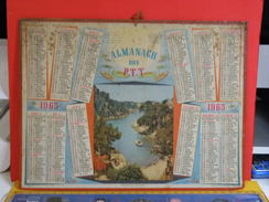 Calendrier > Calanques De Cassis - Almanach Des P.T.T. 1965 - Vendu En état, Carton Uniquement - Calendriers