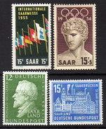SAAR 1955-1959 -  Lot 4 X  ** / MNH - 1947-56 Allierte Besetzung