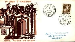 ALGERIE - Premier Jour Musée Du Bardo 1955 - P21242 - Algérie (1924-1962)