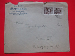 T10-Cover,Envelope-Letter-Hotel Advertising-Pension Germania ,Karnten ,Osterreich,Austria 1936. - 1918-1945 1. Republik
