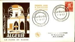 ALGERIE - Premier Jour Le Patio Du Bardo 1957 - P21243 - Algérie (1924-1962)