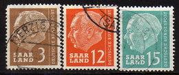 SAAR 1957 -  MiNr: 380-399 Lot 3x  Used - 1957-59 Bundesland