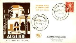 ALGERIE - Premier Jour Le Patio Du Bardo 1957 - P21244 - Algérie (1924-1962)