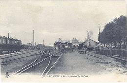 Cpa 42 – Roanne –  Vue Intérieure De La Gare - Roanne