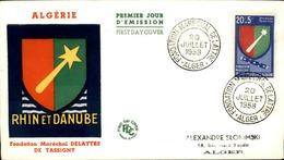 ALGERIE - Premier Jour Rhin Et Danube 1958 - P21245 - Algérie (1924-1962)