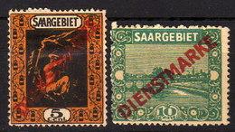 SAAR Dienst 1922 - MiNr:  2+3  * / MH - Dienstmarken