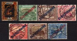 SAAR Dienst 1922 - MiNr: 1 - 11  Lot 7x  Used - Dienstmarken