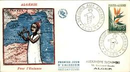 ALGERIE - Premier Jour Pour L'enfance 1958 - P21246 - Algérie (1924-1962)