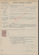 PONTS & CHAUSSÉES AUTORISATION DE TRAVAUX À Mr CHARTIER À POMPONNE 4 PAGES : - Manuscripts