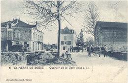 Cpa 42 – St-Pierre De Bœuf – 54 Quartier De La Gare - France