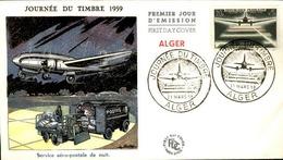 ALGERIE - Premier Jour Journée Du Timbre 1959 - P21248 - Algérie (1924-1962)