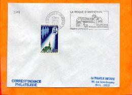 B. Du RHONE, La Roque D'Antheron, Flamme SCOTEM N° 2714, Silvacane Abbaye Cistercienne, Flamme à Droite - Marcophilie (Lettres)