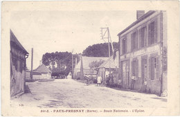 Cpa 51 – Faux-Fresnay – Route Nationale – L'Eglise