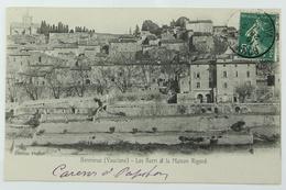 CPA Colorisé Ecrite 1910 Bonnieux, Vaucluse (84) Les Barri Et La Maison Rigord, Ed. Piquet - Bonnieux