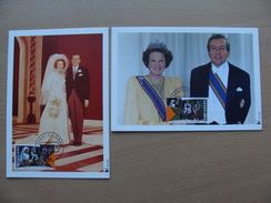Netherlands Mxc 1991-03-11 R 215 216 Queen Beatrix Prins Claus Marriage 25 Anniversary Maximum Card 2x A 3,50 Euro - Cartes-Maximum (CM)