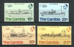188 GAMBIE 1980 - Yvert 407/10 - Bateau - Neuf ** (MNH) Sans Trace De Charniere - Gambie (1965-...)