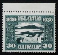 ICELAND 1930 LAKE MOUNTAIN THINGVELLIR PARLIAMENTARY MILLENARY SINGLE MNH - Nuevos