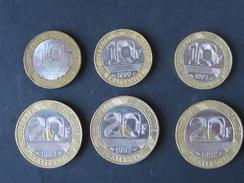 Lot De 6 Pieces : 10F Genie Bastille 1988, 1990, 1991, Et 20F Mont St Michel 1992 (3) - France