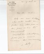 DE CHILLY CHARLES (STENAY 1804 PARIS 1872) ACTEUR THEATRE DIRECTEUR AMBIGU ET L'ODEON LETTRE A SIGNATURE 1872 - Autographs