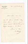 DE CHILLY CHARLES (STENAY 1804 PARIS 1872) ACTEUR DIRECTEUR DE L'AMBIGU ET L'ODEON LETTRE A SIGNATURE - Autographs