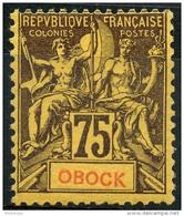 Obock (1892) N 43 * (charniere)