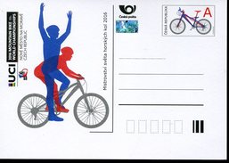 17546 Ceska Rep.  Stationery Card  2016 For The World Mountain Bike Champ. - Mountain Bike