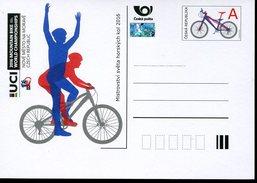 17546 Ceska Rep.  Stationery Card  2016 For The World Mountain Bike Champ.
