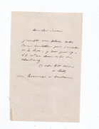 DE CHILLY CHARLES (STENAY 1804 PARIS 1872) ACTEUR THEATRE DIRCTEUR DE L'AMBIGU ET L'ODEON LETTRE A SIGNATURE - Autographs