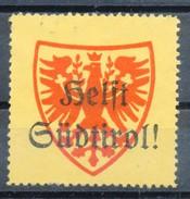 Österreich -Vignette  Helft Südtirol - Vignetten (Erinnophilie)