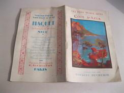 COTE D AZUR Les Plus Beaux Sites   Brochure In Francese Del 1929 - Dépliants Turistici