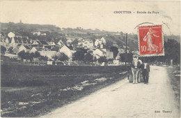 Cpa 61 – Crouttes – Entrée Du Pays ( Cheval Tirant Un Rouleau ) - France