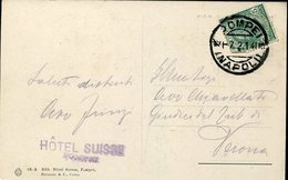 17555 Italia, Circuled Card 1921 With Ordinary Postmark Of Pompei