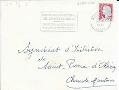 ALGERIE  -  ALGER GARE   - FLAMME N° 2 SG   -  L'ADMINISTRATION VOUS OFFRE / UNE SITUATION EN ALGERIE ...    1961 - Algérie (1924-1962)