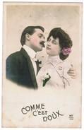 """Fantasiekaart, Carte Fantasie, Couple Amoureux, Verliefd Koppel """"comme C'est Doux"""" (pk32394) - Noces"""