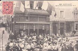 35 Saint-Malo Café Des Voyageurs Place Chateaubriand 1904 - Saint Malo