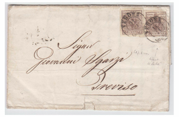 ITALIE--LOMBARDO-VENETIE --  1852 -- LETTRE DE VERONE POUR TREVISE -- - Lombardy-Venetia