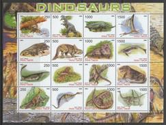FEUILLET NEUF DU TIMOR ORIENTAL - DINOSAURES (H) - EMISSION LOCALE - Briefmarken