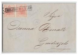 ITALIE--LOMBARDO-VENETIE --  1852 -- LETTRE DE MILAN POUR GUIDIZOLO  -- - Lombardy-Venetia